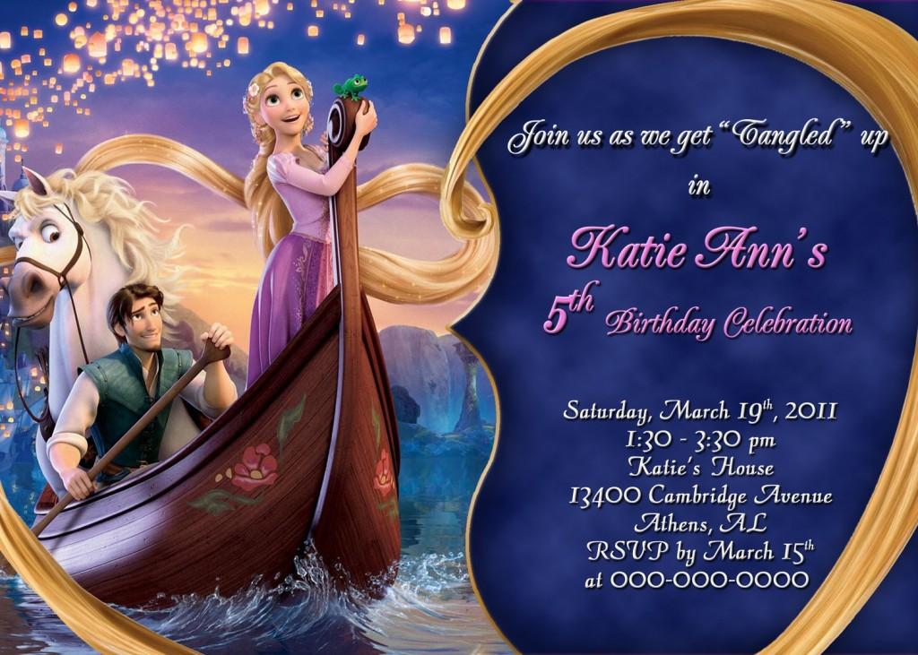Rapunzel-Tangled-Personalized-Birthday-Invitation | Ariel ...